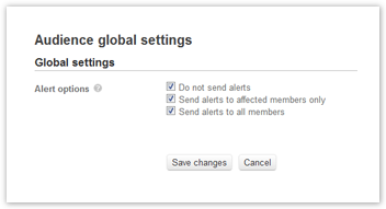 Audience global settings
